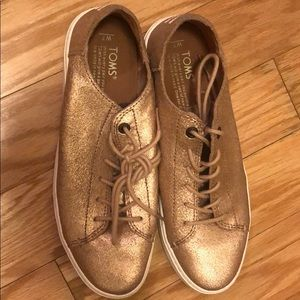 Toms gold sneakers